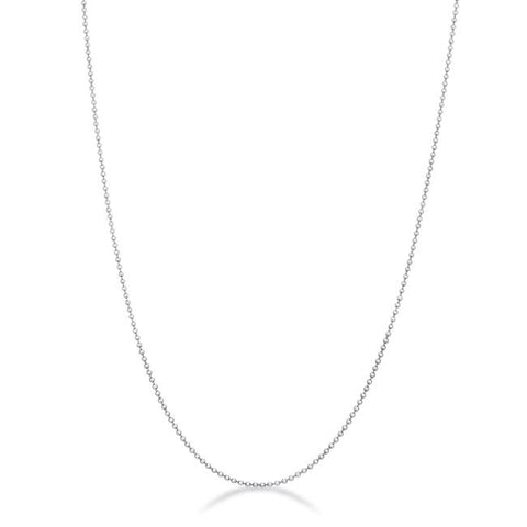Liva Beaded Julibee Silver Necklace | 20in