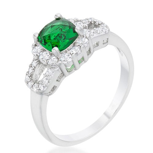 Liz Emerald Vintage Engagement Ring  | 1.5ct