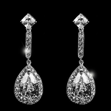Loranne Tear Drop Dangle Earrings | 41mm