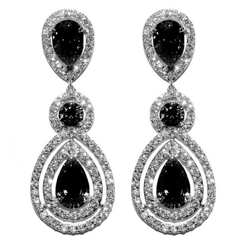 Louisa Black Chandelier Earrings