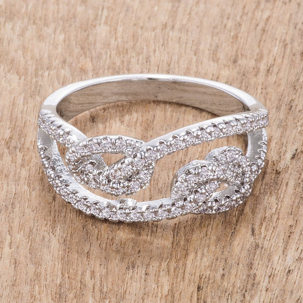 Lucera CZ Pave Double Knot Ring | 1.2ct