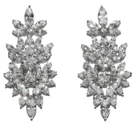 Lysandra Marquise Dangle  Chandelier Earrings | Cubic Zirconia