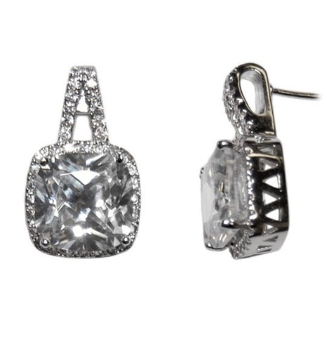 Magina Cushion Cut Stud Earrings