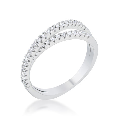 Mara Intertwinded Fashion Eternity Ring  | 0.8 Carat | Cubic Zirconia | Silver - Beloved Sparkles