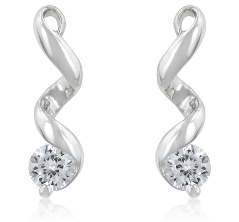 Margot Solitaire CZ Drop Earrings  | 1ct - Beloved Sparkles