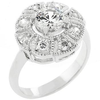 Mary 1(ct) Round Milgran Engagement Ring | 1.5ct