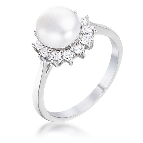 Meggie Classic Pearl CZ Ring