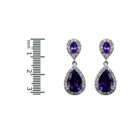 Melba Amethyst Drop Earrings