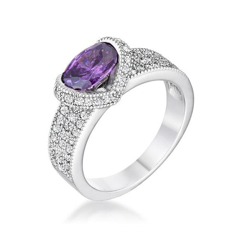 Melora Amethyst Oval CZ Cocktail Ring | 3.5ct