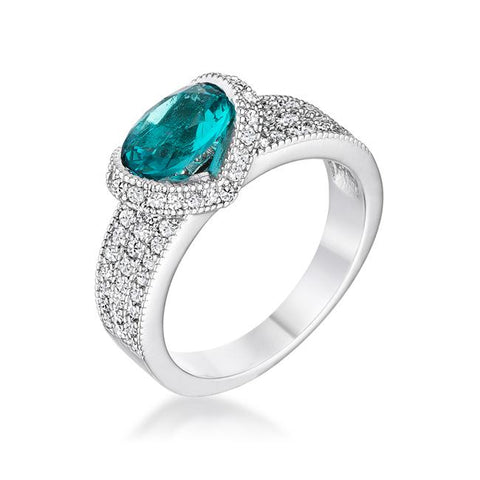 Melora Aqua Oval CZ Cocktail Ring | 3.5ct