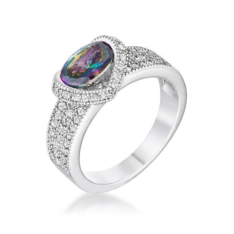 Melora Mystic Oval CZ Cocktail Ring | 3.5ct
