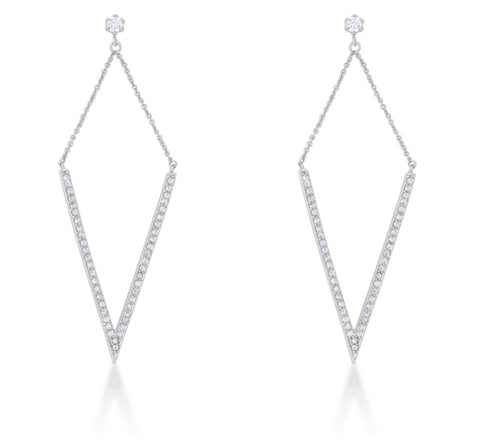 Michelle Delicate Pointed Drop Dangle Earrings | 1.2ct | Cubic Zirconia