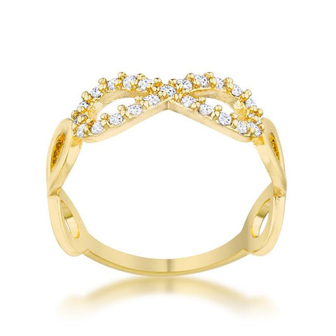 Mina 14k Gold Infinity Art Deco Fashion Ring | 0.5 Carat | Cubic Zirconia | 14K Gold - Beloved Sparkles