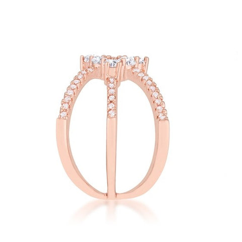 Mindy Rose Gold Triple Wrap Fashion Ring | 1.5ct