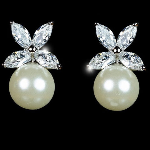 Misty Freshwater Pearl Stud Earrings
