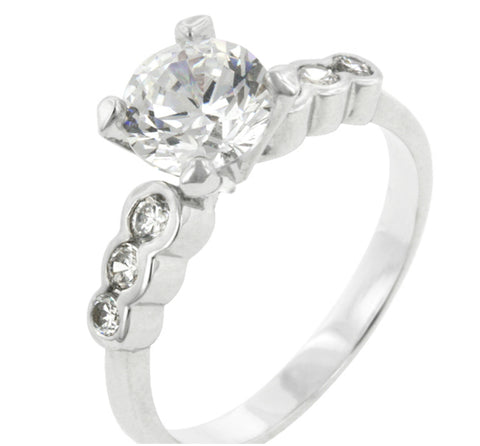 Monte Cristo  Solitaire Engagement Ring | 2ct | Cubic Zirconia