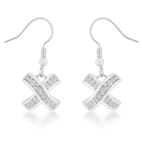 Monya Criss Cross Drop Earrings | 1.5ct