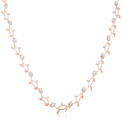 Nathana Romantic Vineyard Rose Gold Necklace | 16in