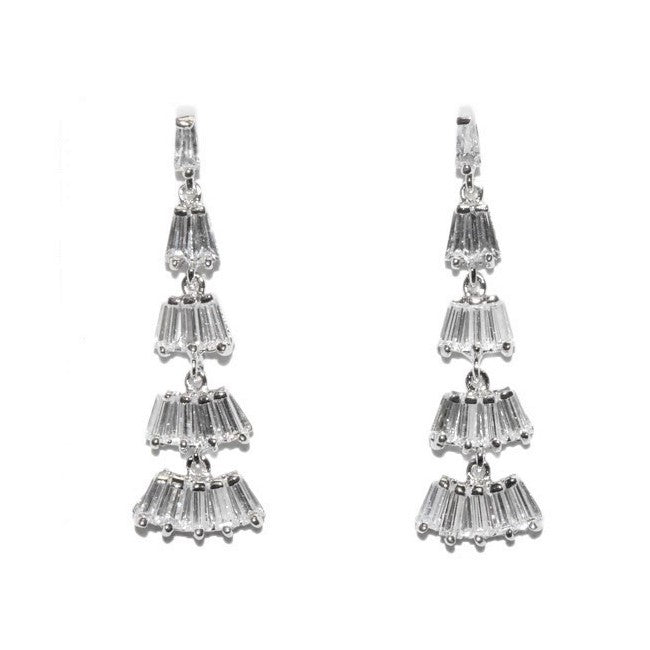 Noelan CZ Dangle Chandelier Earrings