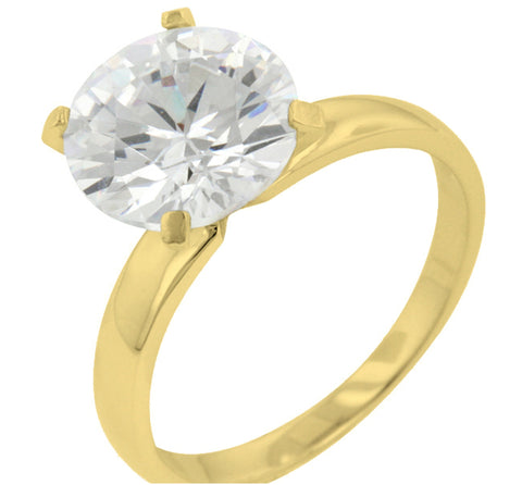 Odelia Timeless Round Solitaire Engagement Ring | 3.5ct | Sterling Silver