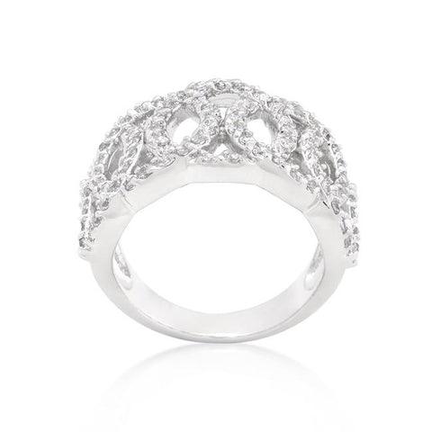 Ontina CZ Circular Wide Band Ring | 7ct | Cubic Zirconia - Beloved Sparkles  - 1