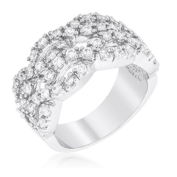 Penn Braided Cubic Zirconia Wide Band Ring | 5ct
