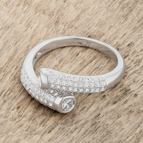 Perry Contemporary Wrap Fashion  Cocktail Ring  | 1.5 Carat | Cubic Zirconia - Beloved Sparkles  - 5