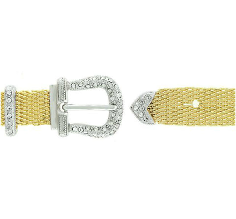 Pilvia Cubic Zirconia Gold Buckle Bracelet – 7in to 9in