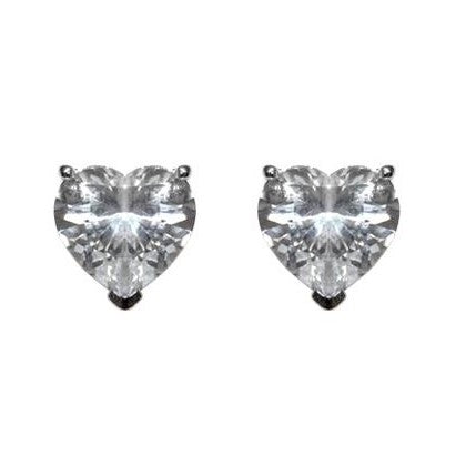Presley Heart Cut Stud Earrings –6mm | 0.5ct