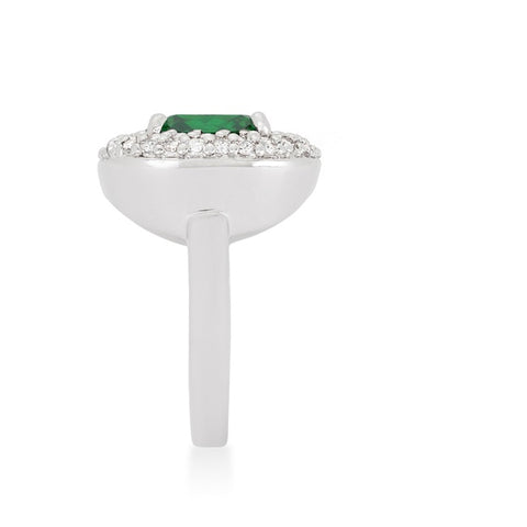 Regina Emerald Green Cushion Cut Cocktail Ring | 5ct