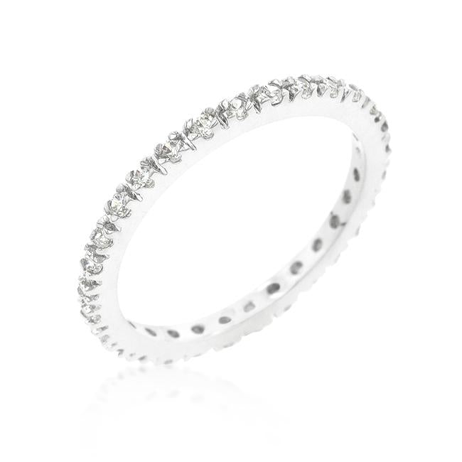 Renetta Round Pave Set Stackable Eternity Ring | 1ct