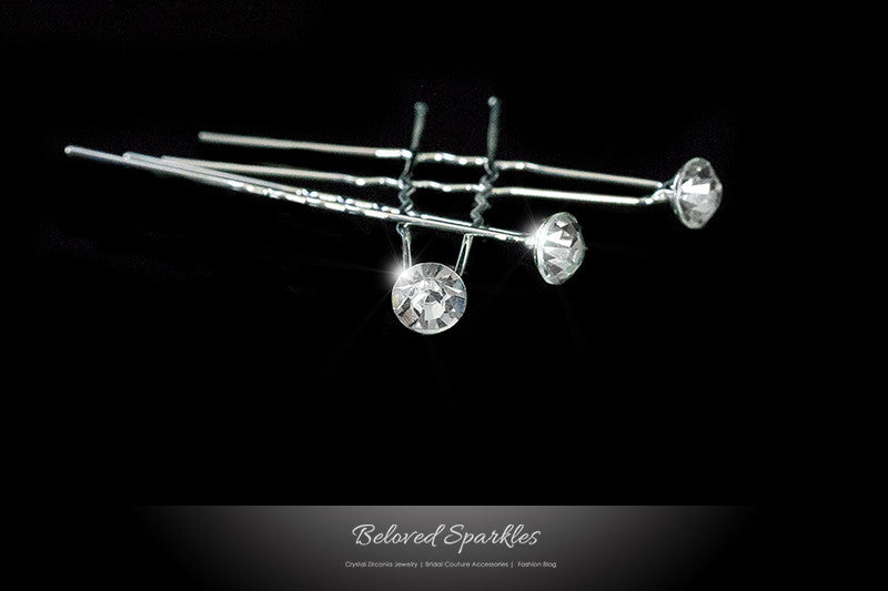 Riana Solitaire Hair Stick Pin | Rhinestone - Beloved Sparkles