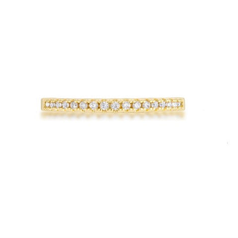 Rina 18k Gold Delicate CZ Band Ring