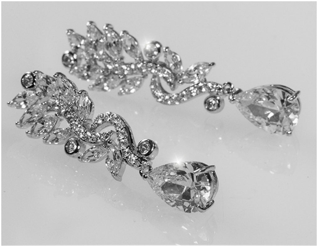 Sandra marquise cluster linear chandelier earrings 10ct cubic sandra marquise cluster linear chandelier earrings 10ct cubic zirconia silver arubaitofo Choice Image
