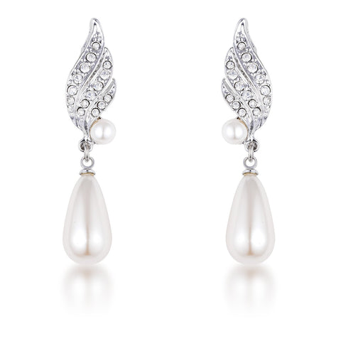 Sanila Simulated Pearl and Crystal Drop Earrings