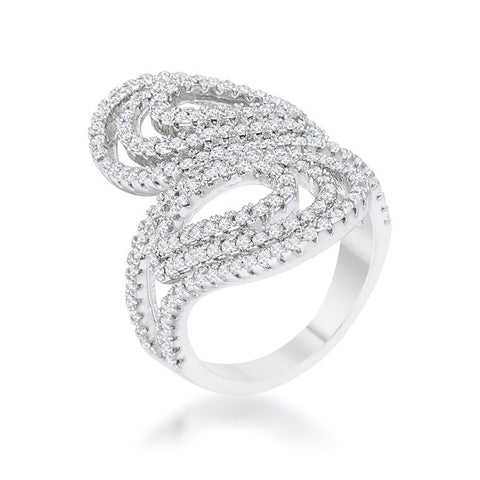 Serina Pave Circle Contemporary Fashion Cocktail Ring | 1.8 Carat | Cubic Zirconia - Beloved Sparkles  - 2