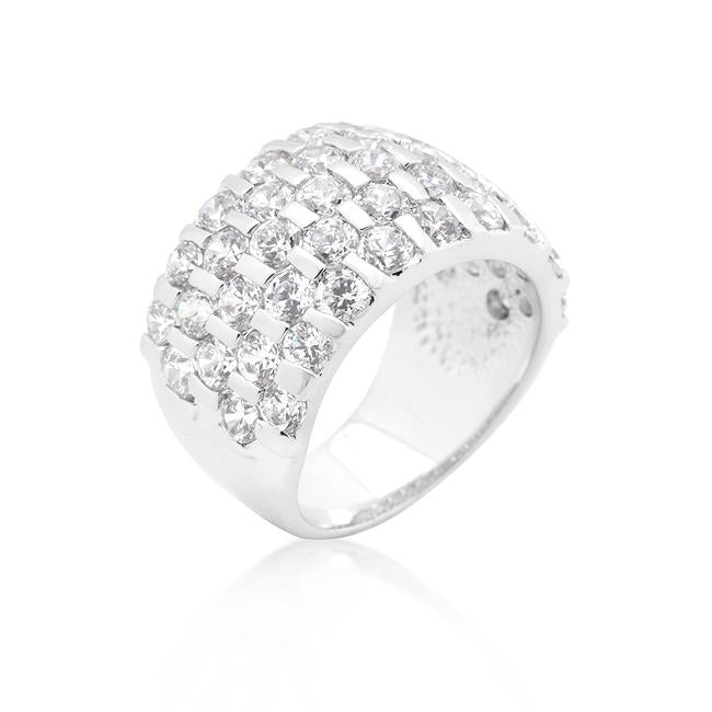 Shelby Channel Set Stacked Cocktail Ring | 9 Carat | Cubic Zirconia - Beloved Sparkles  - 1
