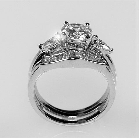 Shyla 1(ct) Round Cut Two Piece Engagement Ring Set | 4.5ct