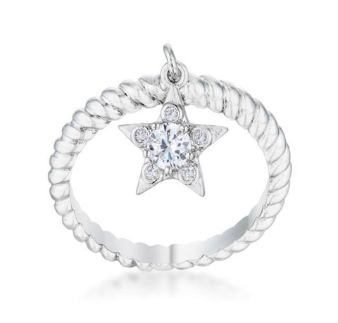 Stella Cubic Zirconia Star Charm CZ Fashion Ring | 0.5ct | Cubic Zirconia | Silver