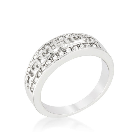 Talal Petite Art Deco Eternity Fashion Ring | 1 Carat | Cubic Zirconia - Beloved Sparkles  - 2