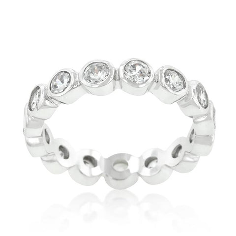 Tama CZ Linked Bezel Eternity Ring | 1.5ct