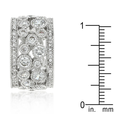 Trisha Filigree Cluster Eternity Wide Band Ring  | 8ct