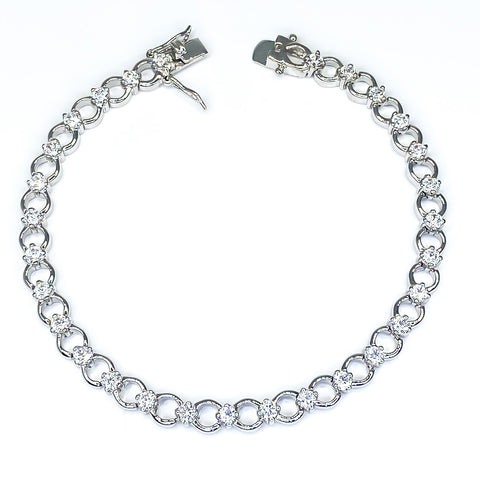 Trixie Alternating Circles Fashion Bracelet - 7.25in