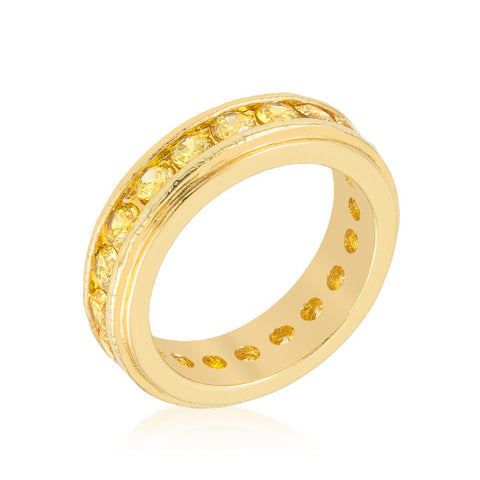 Trixie Lustrous Eternity Stackable Ring | 3 Carat | 18k Gold | Cubic Zirconia - Beloved Sparkles  - 1