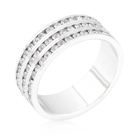Tyra Triple Row Eternity Ring | 2 Carat | Cubic Zirconia