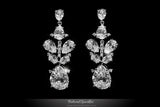 Salma Art Deco Cluster Chandelier Earrings | 14 Carat | Cubic Zirconia - Beloved Sparkles  - 1