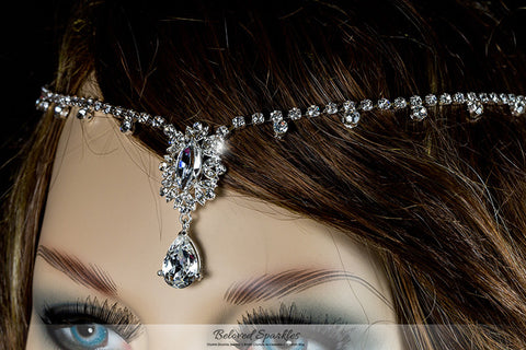Lydia Vintage Forehead Chain | Swarovski Crystal - Beloved Sparkles  - 1