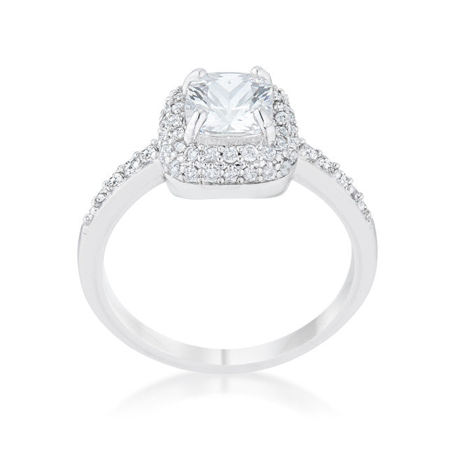 Serena Art Deco Vintage Inspired Cushion Cut Solitaire Engagement Ring | 2.5  Carat |Cubic Zirconia - Beloved Sparkles  - 1