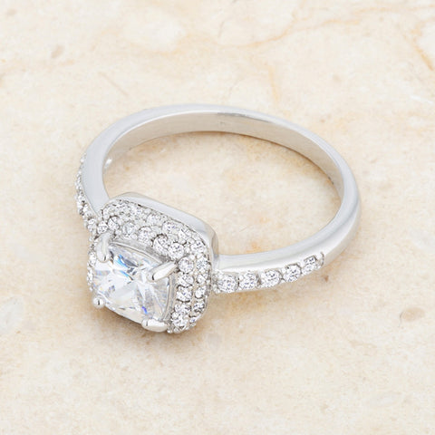Serena Art Deco Vintage Inspired Cushion Cut Solitaire Engagement Ring | 2.5  Carat |Cubic Zirconia - Beloved Sparkles  - 5