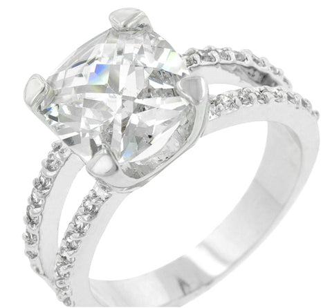Zandra Cushion Cut Engagement Statement Ring | 6.5 Carat | Cubic Zirconia - Beloved Sparkles  - 2